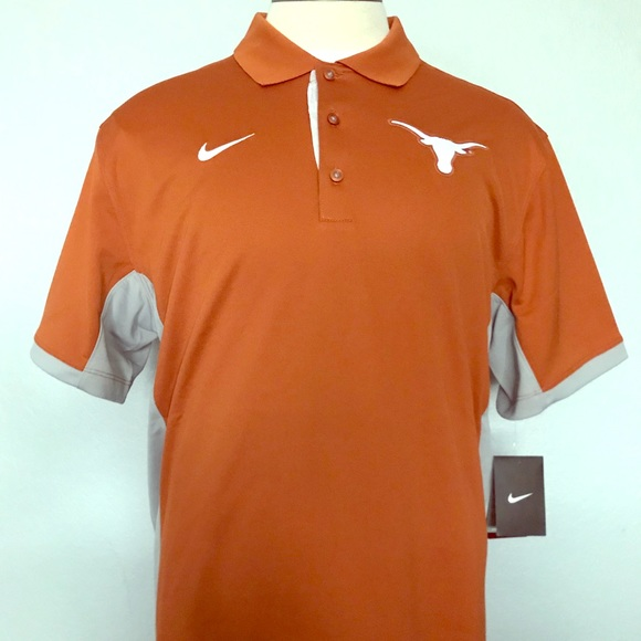 wholesale dealer 90960 62f8d NWT Nike UT Texas Longhorns Dri Fit Orange Polo